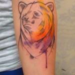 Татуировки медведя для мужчин: эскизы и фото