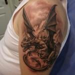 Татуировки дракона для мужчин : эскизы и фото